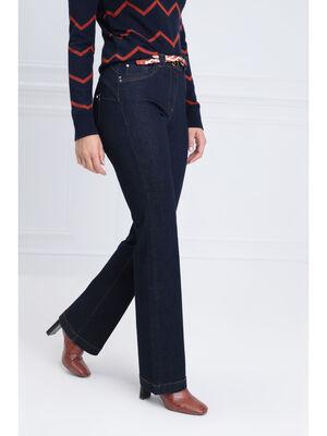 Jeans evase taille standard denim brut femme