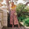 Pantalon flou large 78eme vieux rose femme