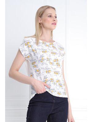 T shirt manche courte ecru femme