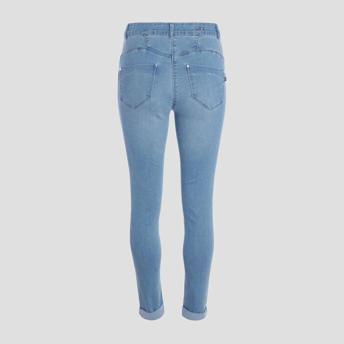 Jeans ajusté taille standard denim double stone femme