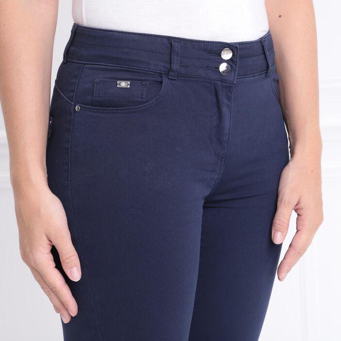 Pantalon 7/8 taille standard bleu marine femme