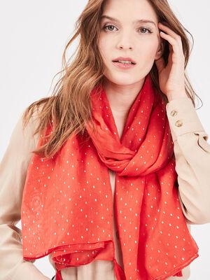 Foulard rouge fluo femme