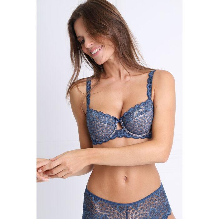 Soutien-gorge ampliforme bleu clair femme