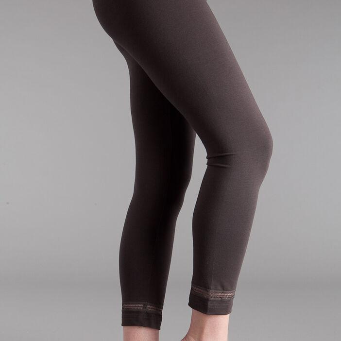 Legging taille standard marron foncé femme