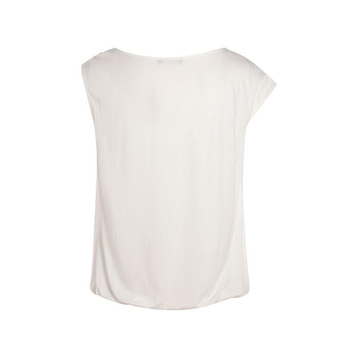 T-shirt avec une manche nouée ecru femme