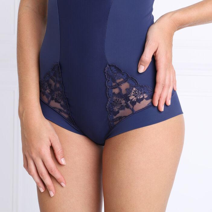 Body avec armatures et dentelle bleu marine femme