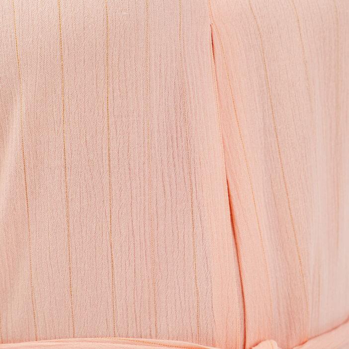 Robe droite fluide ceinturée rose clair femme