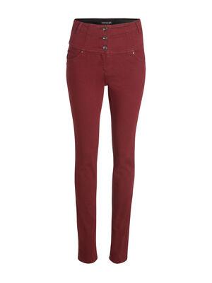 Pantalon magique gainant uni rouge fonce femme
