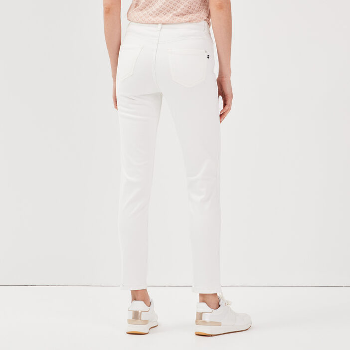 Pantalon réversible confortable ecru femme