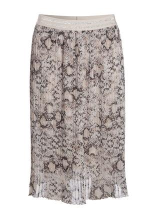 Jupe plissee imprimee blanc femme