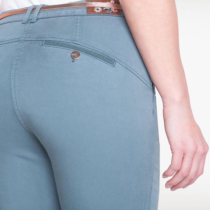 Pantalon chino avec ceinture vert foncé femme
