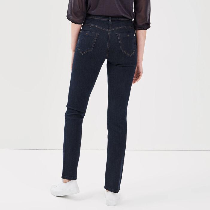 Jeans ajusté taille standard denim brut femme