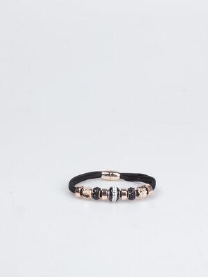 Bracelet suedine noir femme