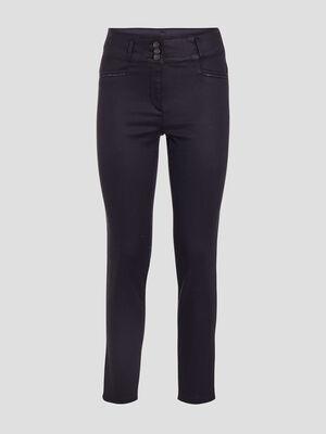 Pantalon ajuste bleu marine femme