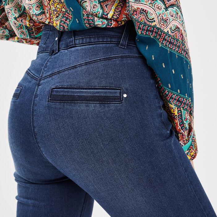 Jeans ajusté taille haute denim stone femme