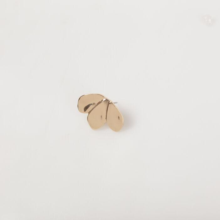 Boucles d'oreilles métal fantaisie couleur or femme