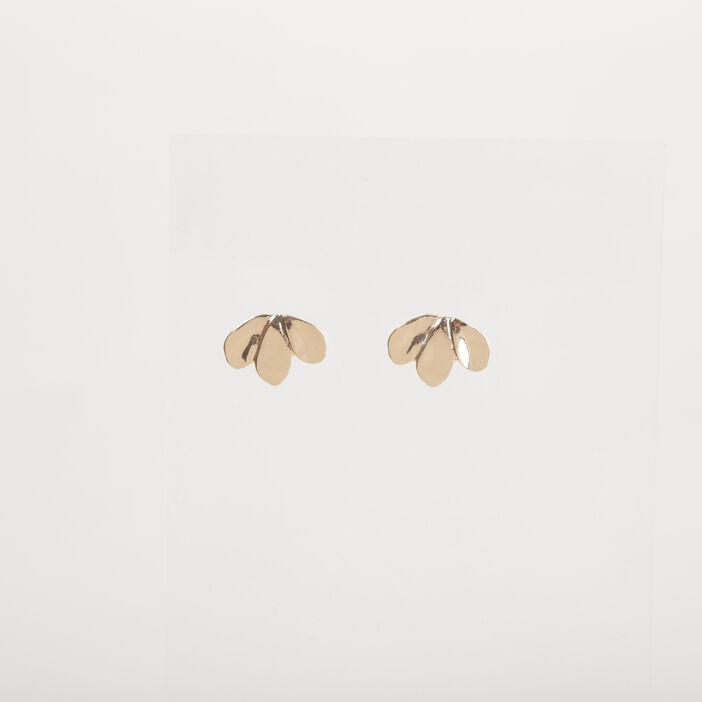 Boucles d'oreille métal couleur or femme