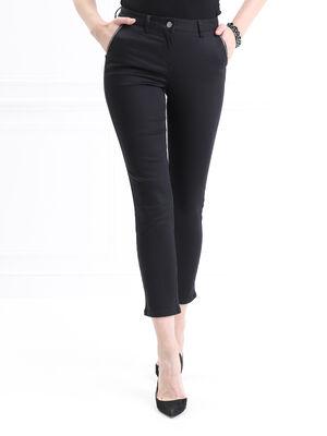 Pantalon ajuste details bijoux noir femme