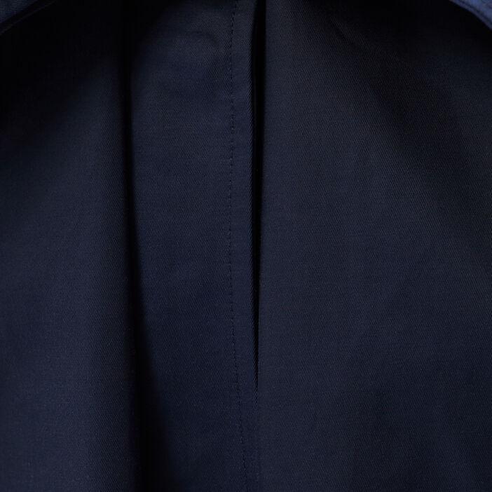 Parka droite ceinturée bleu marine femme