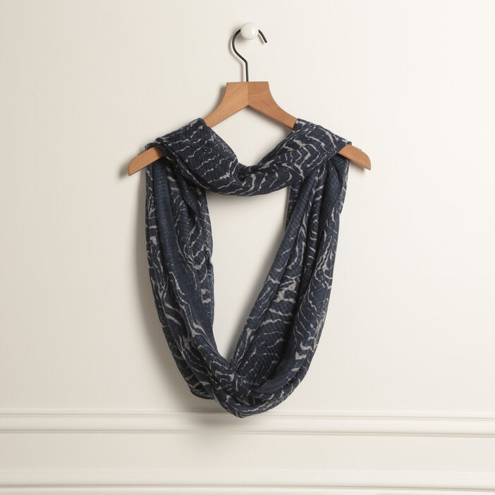Foulard snood bleu marine femme