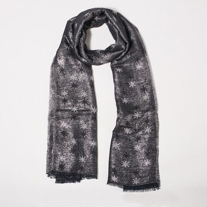 Foulard couleur argent femme