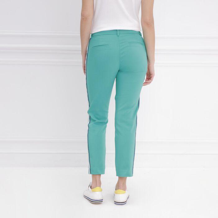 Pantalon droit taille standard vert femme