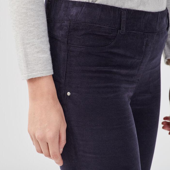 Tregging taille standard bleu foncé femme