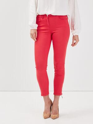 Pantalon 78 satin rouge femme