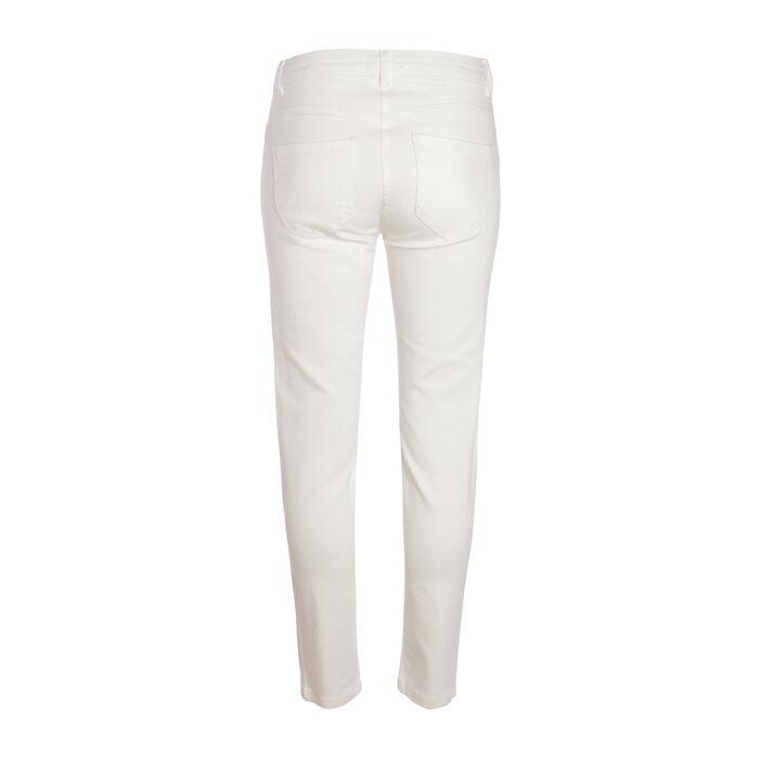 Pantalon slim ecru femme