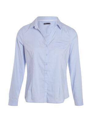 Chemise stretch bleu gris femme