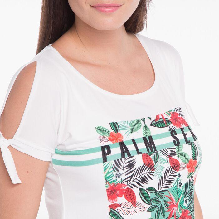 T-shirt imprimé blanc femme