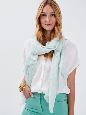 Foulard vert pastel femme