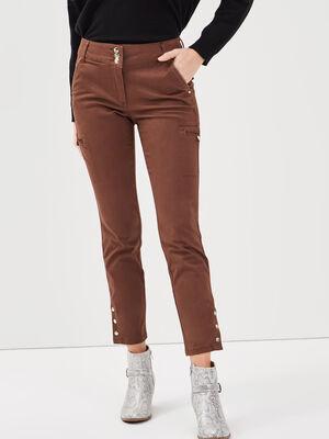 Pantalon ajuste 78eme marron femme