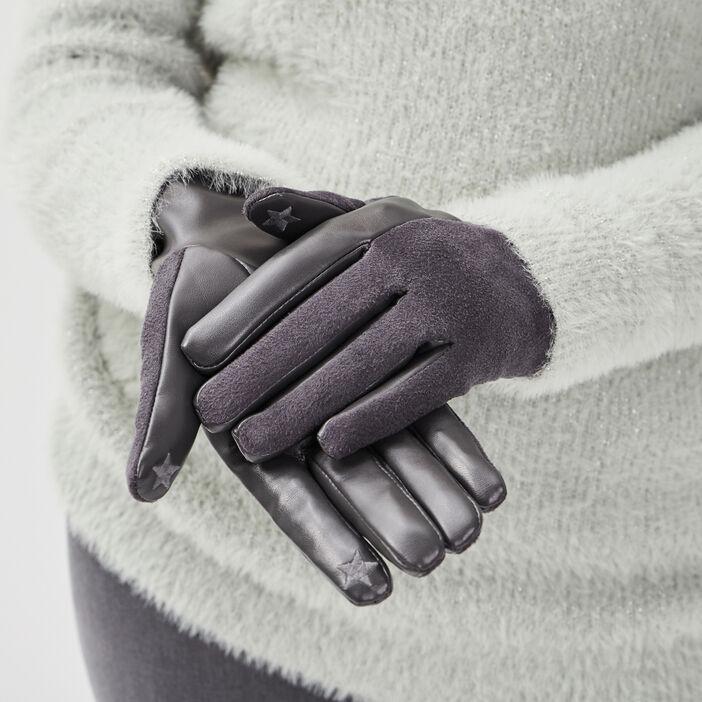 Gants gris femme