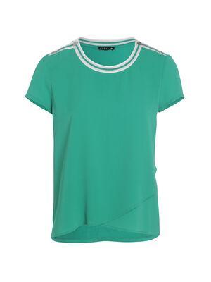 Tee shirt manches courtes vert menthe femme