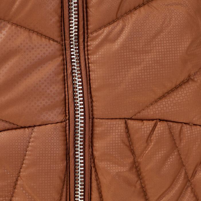 Doudoune courte cintrée marron femme