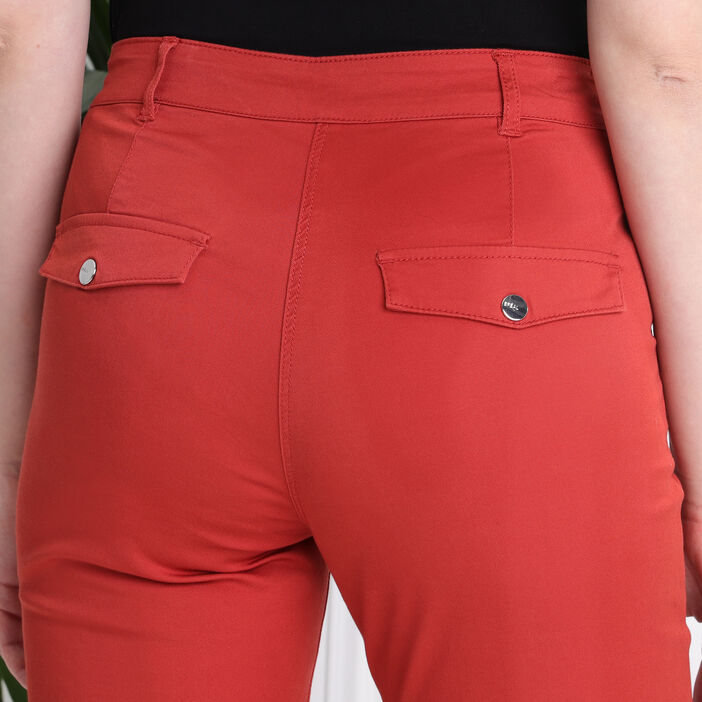 Pantacourt taille standard orange foncé femme