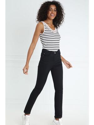 Pantalon ajuste push up noir femme