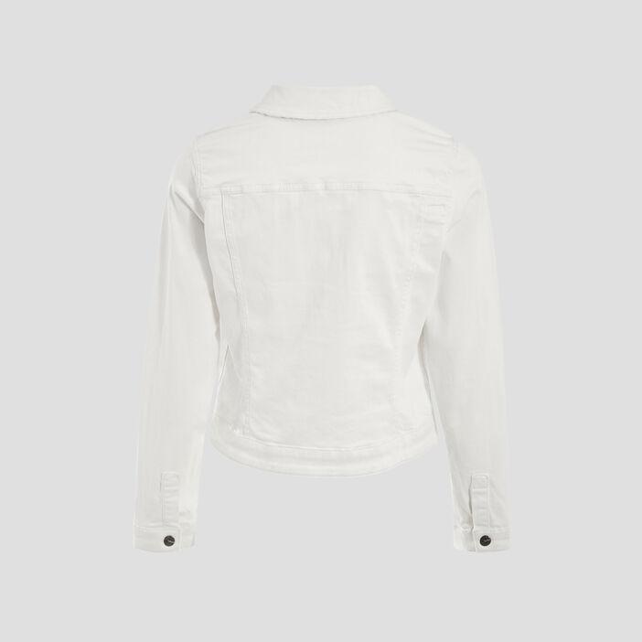 Veste droite réversible ecru femme
