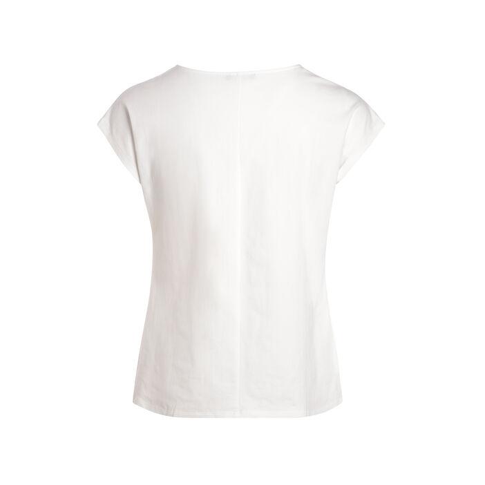 T-shirt manches courtes anneau ecru femme
