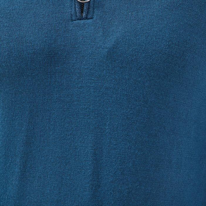 Pull manches longues bleu pétrole femme