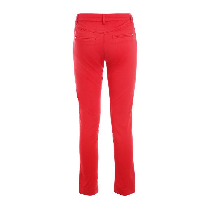 Pantalon taille standard rouge femme