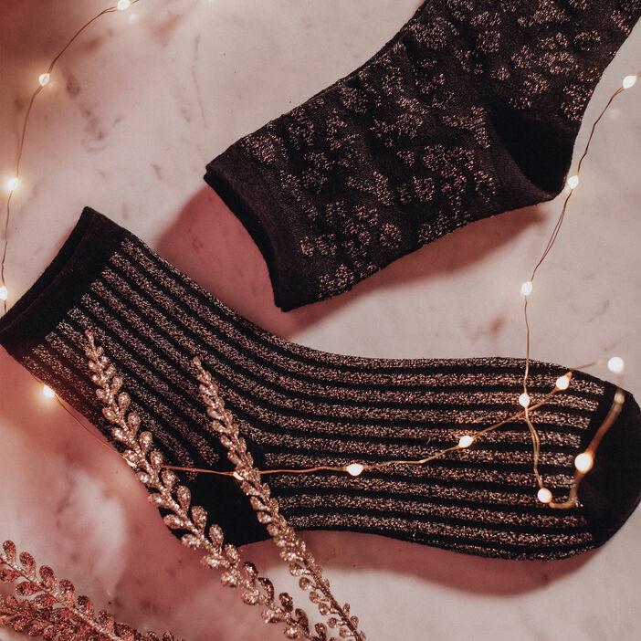 Lot 2 paires chaussettes noir femme