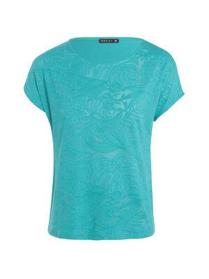 T shirt avec motif vert turquoise femme