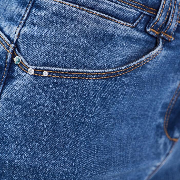 Jean large taille standard denim stone femme