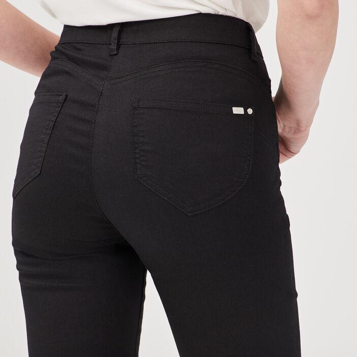 Pantalon ajusté taille standard noir femme