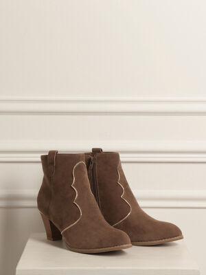 Boosts decoupe western couleur cuivre femme