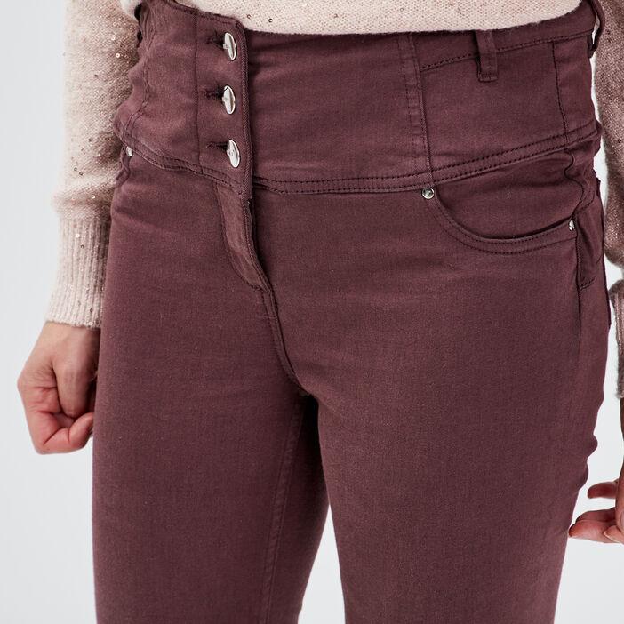 Pantalon magique sculptant uni marron femme