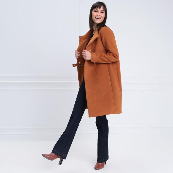 Jeans bootcut taille standard denim brut femme