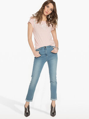 Jean push up denim double stone femme